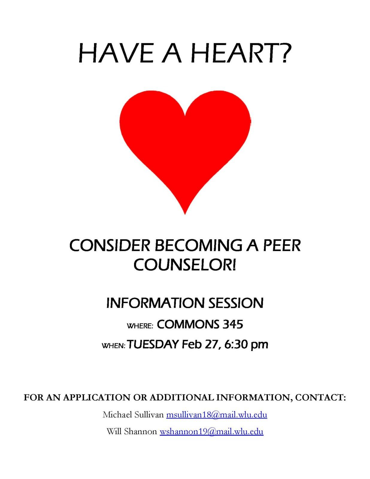Peer Counselor Recruitment