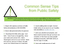 Tips from Public Safety