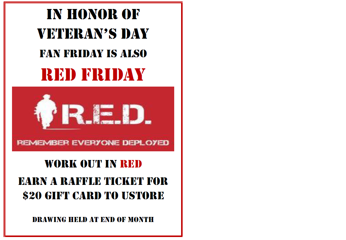 Red Friday at the Fitness Center