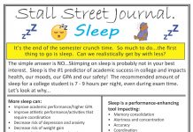 Sleep Stall Street Journal