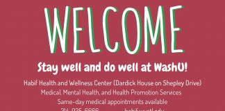 Welcome message from Habif Health and Wellness Center