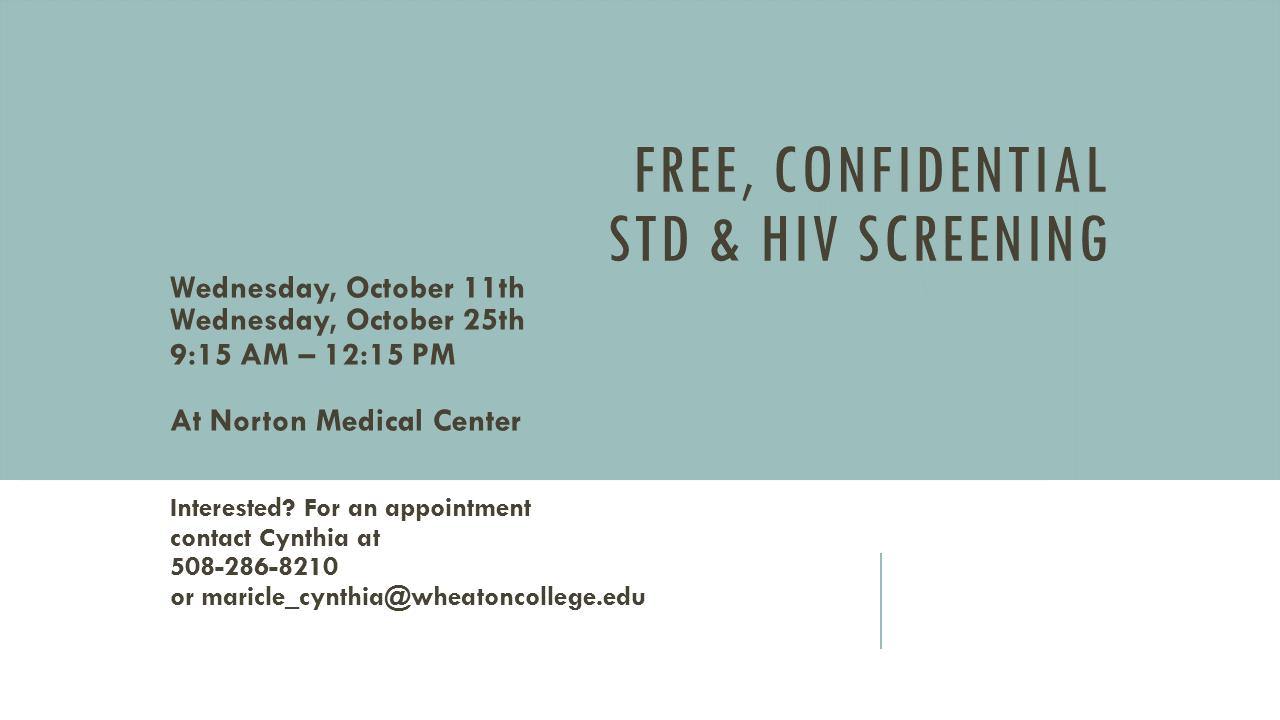 Free, Confidential HIV & STD Testing