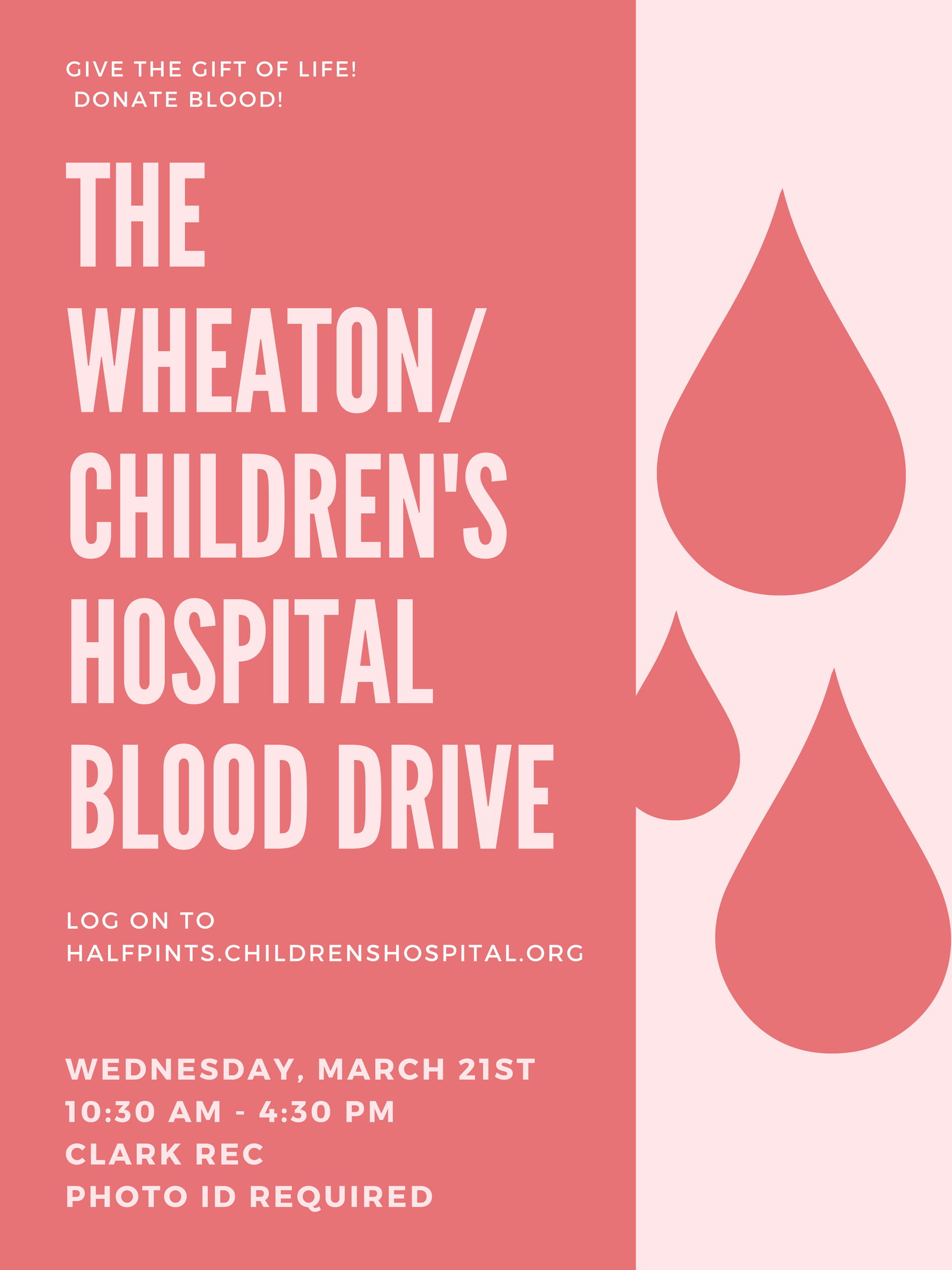 March 21st Blood Drive