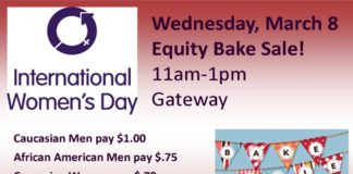 International Women's Day Bake Sale