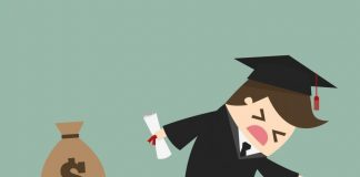 College students are getting stressed out over their mounting debts. Photo Courtesy of Shutterstock