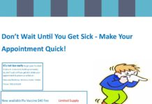 Don't Wait Until You Get Sick - Make Your Appointment Quick!