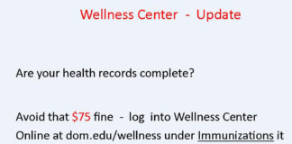Wellness Center Update: Are Your Health Records Complete?