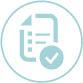 Icon: checklist and check mark