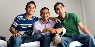 Three male friends