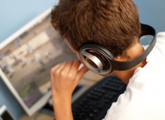 male listening to music