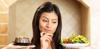 woman choosing food