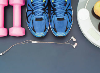 Fitness equipment and healthy food