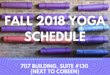Fall 2018 Yoga Schedule