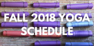 Fall 2018 Yoga Schedule