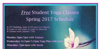 Free student yoga classes