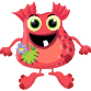 Red, happy monster