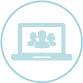 Icon: open laptop