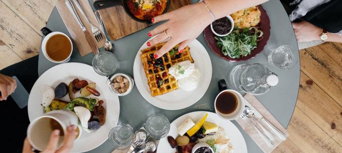 A full dinner table