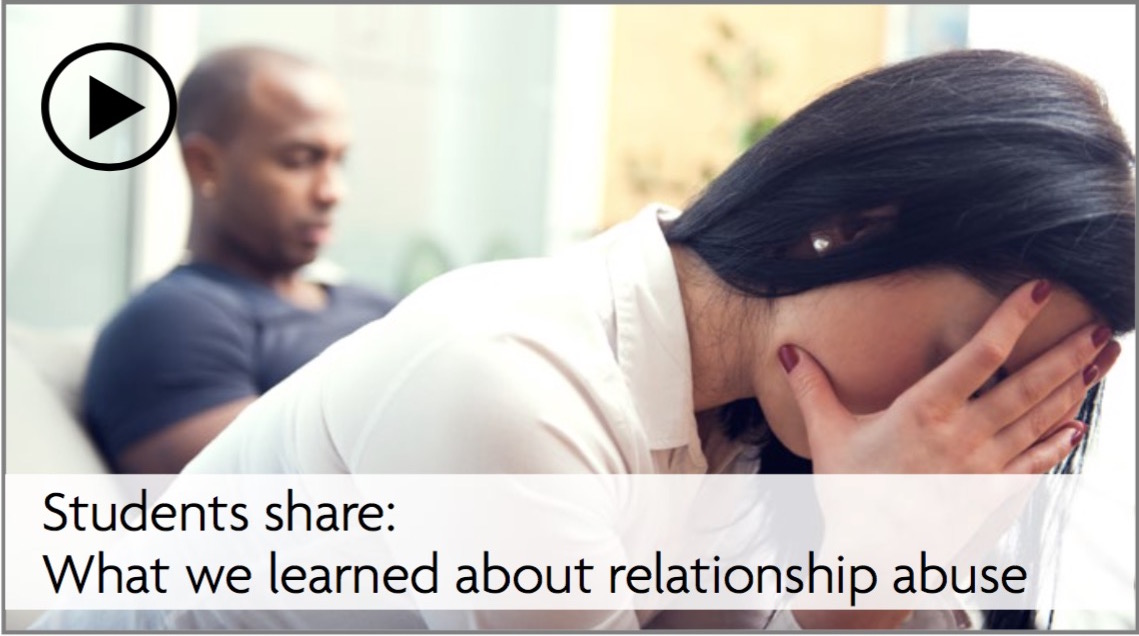Slideshow: Students share: What we learned about relationship abuse
