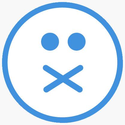 Closed mouth emoji