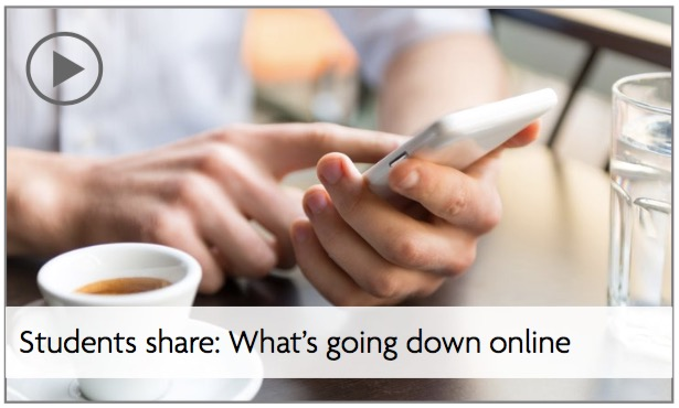 "Slideshow link - ""Students share: What's going down online"""