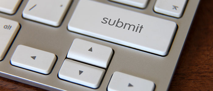 Computer with submit button