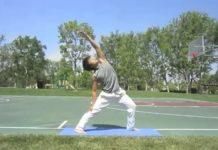 Male doing yoga