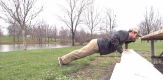 Male doing pushups