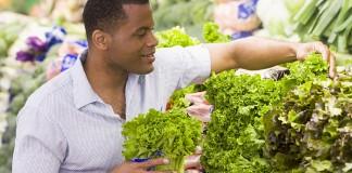 Man choosing produce