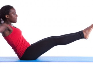 Woman doing core exercises