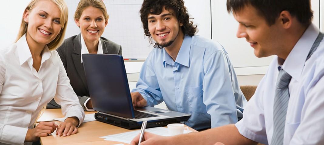 interns working together