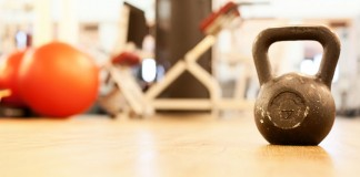 Kettlebell in gym