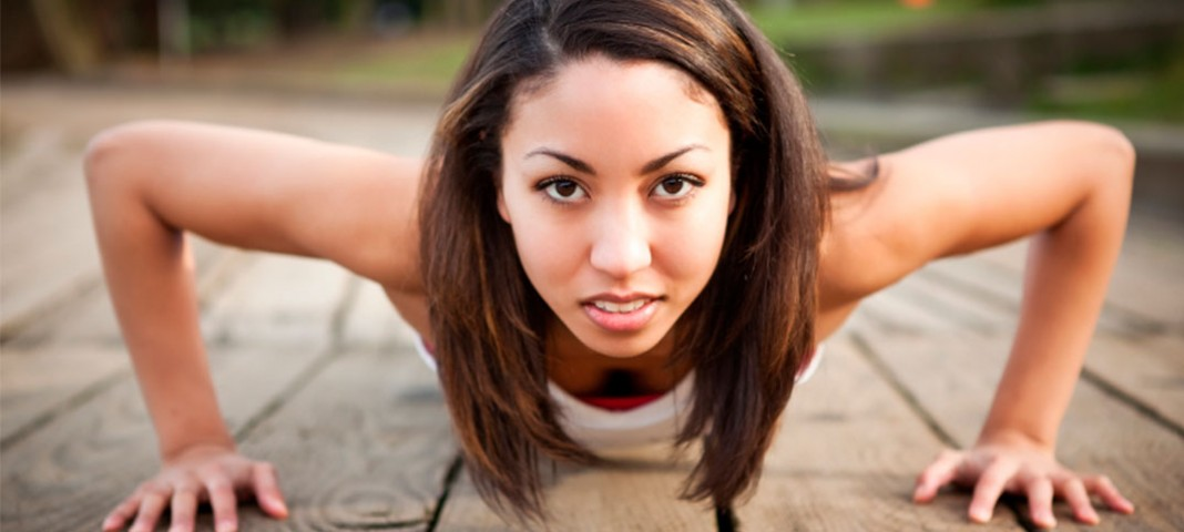 Woman doing push up
