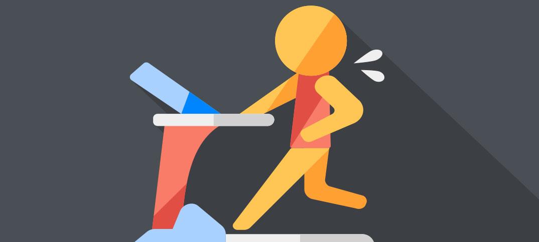 Illustration of a runner on a treadmill