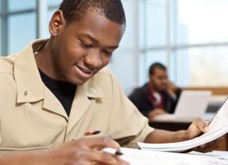 Man doing homework
