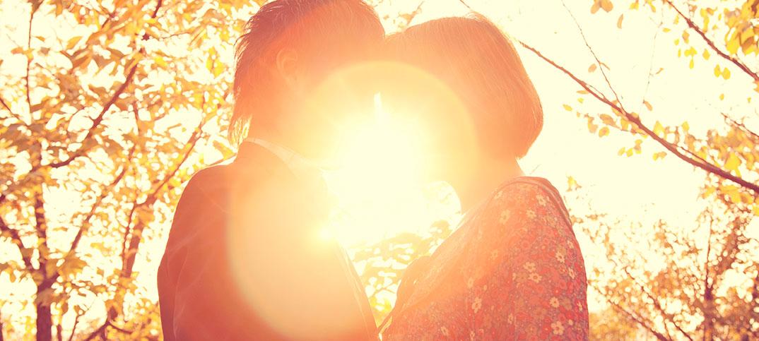 Couple embracing