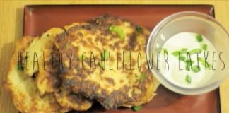Easy cauliflower latkes