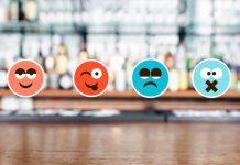 Bar with emoji faces