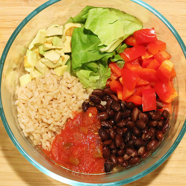 Bowl of ingredients