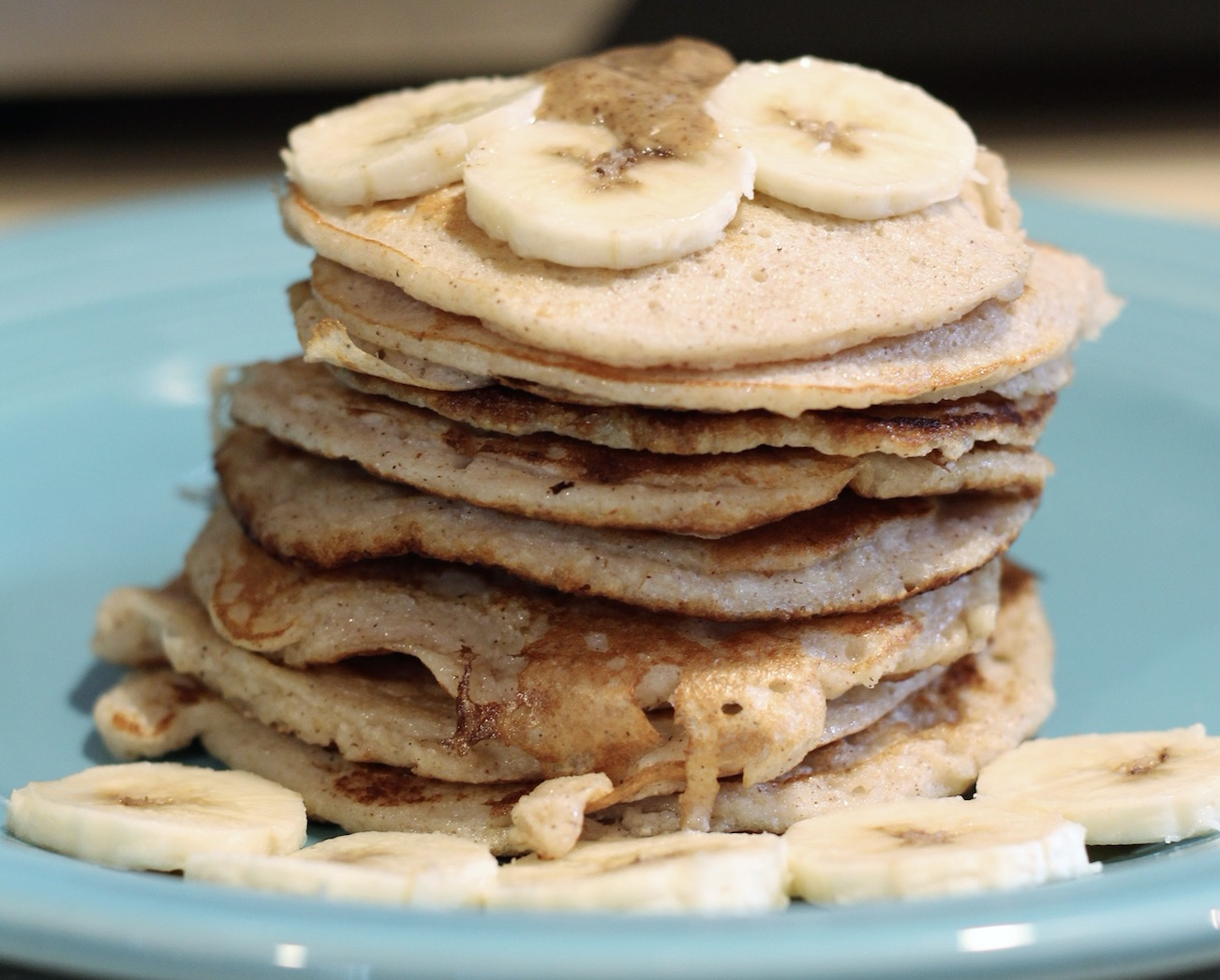Stack up the pancakes and serve