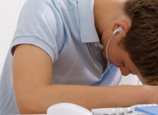 student sleeping