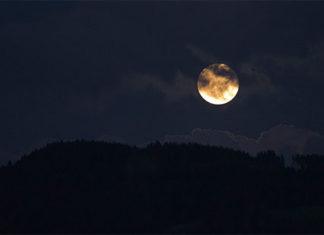 spooky sky with full moon
