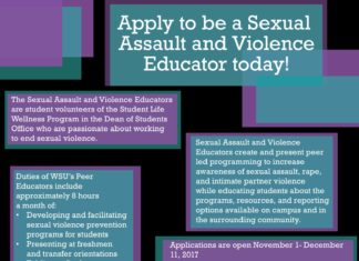 Apply to be a Sexual Assault and Violence Educator today!