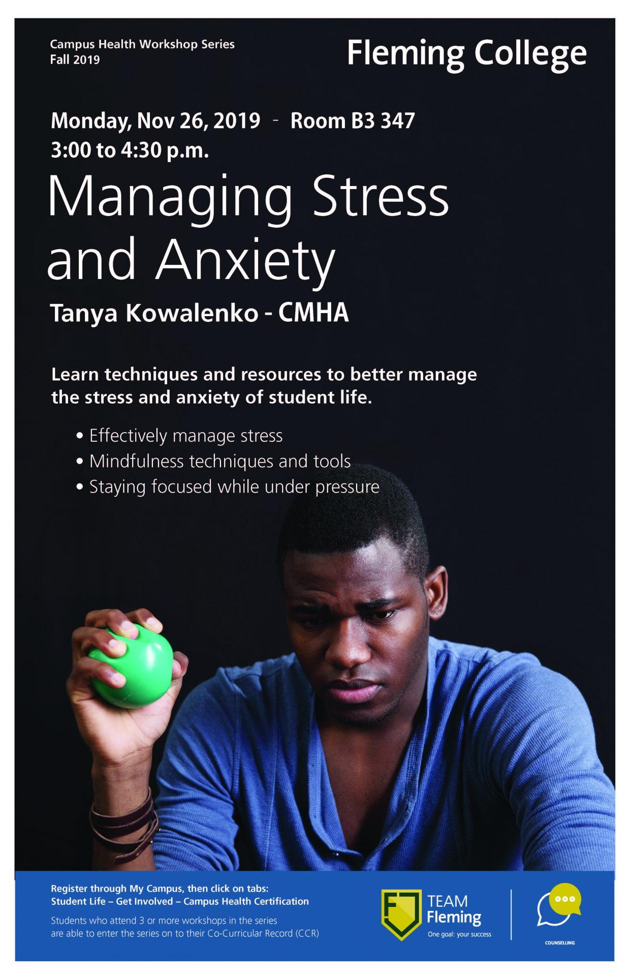 Counselling Stress Workshop Poster