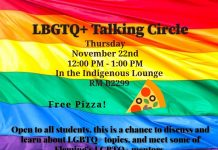 LBGTQ Talking Circle November 22 Sutherland Campus