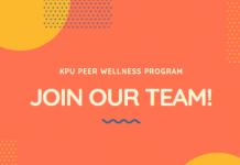 KPU Peer Wellness Program - Join Our Team