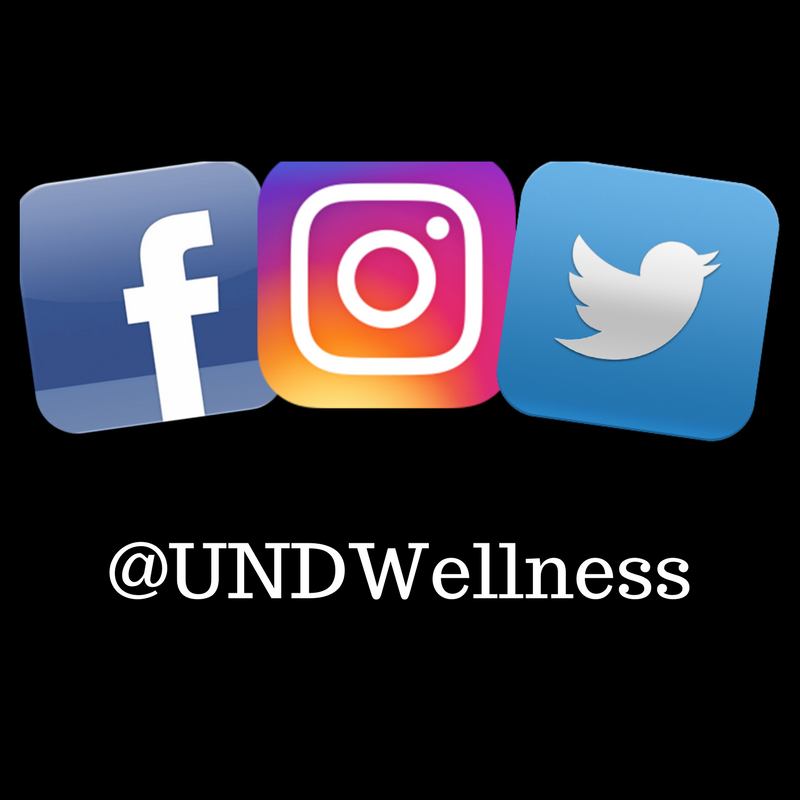 Connect to UND Wellness Social Media!