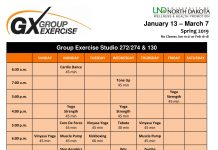 GX schedule
