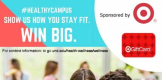 Show us how you stay fit. Sponsored by For contest information: to go und.edu/health-wellness/wellness HEALTHIER CAMPUS INITIATIVE