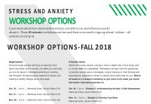 stress and anxiety workshops
